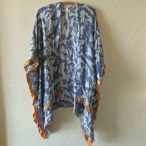 Urban Outfitters Ecote Crinkle Square Kimono